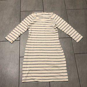 Marine Layer Womens Dress Striped 3/4 Sleeves
